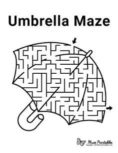 Free Printable Umbrella Maze