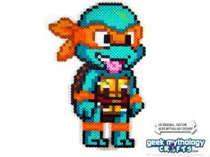 Teenage Mutant Ninja Turtles Perler Bead Sprite Figure (Chibishou 3) · Geek Mythology · Perler Bead Sprites and Geekery