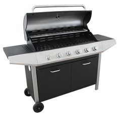 Barbecue Grill 6 Burner XL Outdoor Meat Cooking Gas BBQ Garden Party Cooking New