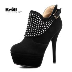 00d1a509b59f pretty!  boots  highheelboots  booties  heels  shoes Wedge Boots