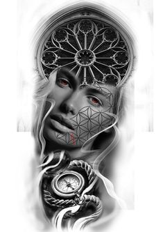 #womanportrait #portraittattoo #realistictattoo #fkironsteam #worldfamousink #compass