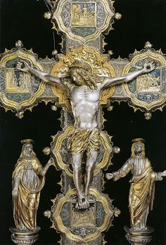 16th century, Cathedral of Atri Italian Processional Cross, detail
