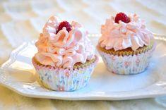 White Chocolate & RaspberryCupcakes with Raspberry Buttercream