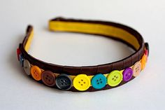 Button hair band - use pink and purple for the birthday favours