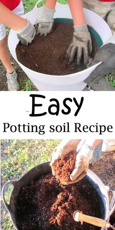 Potting soil recipe--Easy and SO much cheaper.