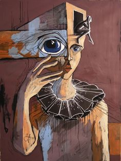 Uncertainty by sirobnaiv on deviantART acrylic, pastel, ink on black cardboard Psychedelic Art, Surealism Art, Arte Peculiar, Art Visage, Hippie Art, Weird Art, Surreal Art, Portrait Art, Aesthetic Art