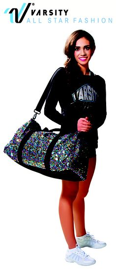 Sequined and Sassy! Keep all your competition or practice items in style with our Sequined Duffle Bag Buy it now:http://shop.varsity.com/shop/accessories/bags/sequin-bag_VSFP+SQDB13.html