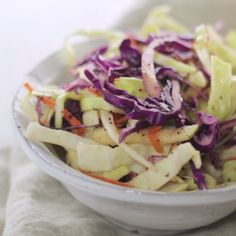 Creamy coleslaw can't compete with this light, tangy slaw.