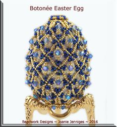 """Botonée"" Easter Egg Pattern - Beadwork Designs by Joanie Jenniges"