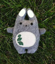 Chubby Bunny with leaf design by AppleOrchardPlush on Etsy