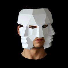 Three Face Mask - Make this 3D mask with PDF download and card