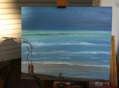 Ragazzi al mare Olio si tela 50x60