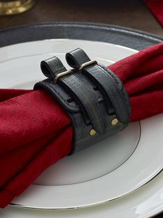 ~ Living a Beautiful Life ~ Leather Bentham Napkin Ring from Ralph Lauren Home!