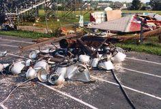 Damage from the tornado in Merrifielld
