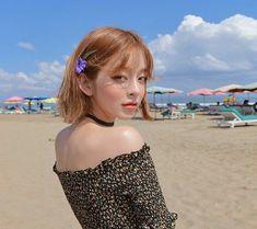 Pretty Girls, Cute Girls, Yoon Sun Young, Cute Korean Girl, Uzzlang Girl, Redhead Girl, Girl Short Hair, Pop Fashion, Short Hair Styles
