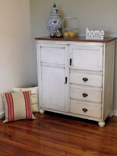Vintage White Furniture Anthropology Pulls Ikea Hemnes 6 Drawer Chest After  | Baby #2