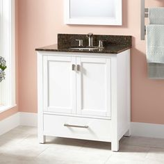 "30""+Modero+Vanity+for+Undermount+Sink+-+White can get top in many colors"