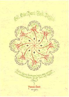 Serdar Kipdemir'in güzel bir kaligrafi çalışması.