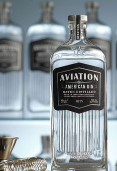 Aviation American Gin. I just love this bottle and label.