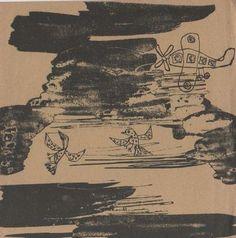 Paintings by Jean Dubuffet. New York, Pierre Matisse Gallery, 1950. Catalogo di mostra. Con 4 litografie originali in nero su foglio ripiegato in due