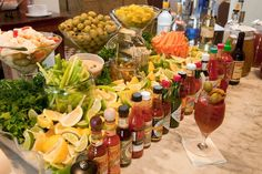 I just wish at one point in my life I throw a party with a Bloody Mary bar!