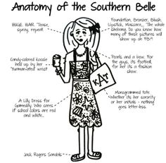"Anatomy of a Southern Belle.... ""Nothing goes letter-less""....."