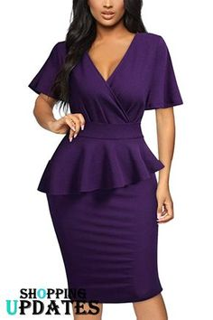 Office Dresses For Women, Casual Work Dresses, Classy Work Outfits, Office Fashion Women, Classy Dress, Ladies Pink Dress, Lace Dress With Sleeves, Short Sleeves, Modesty Fashion