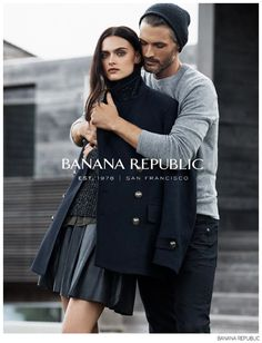 pose guidance - Ben Hill Joins Girlfriend Zuzana for Banana Republic Fall 2014 Campaign image Banana Republic Ben Hill 002 Campaign Fashion, Ad Fashion, Fashion Poses, Fashion Couple, Fashion Shoot, Editorial Fashion, Trendy Fashion, Couple Photography, Fashion Photography