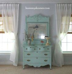 Kammy's Korner: My Antique Aqua Dresser {Master Bedroom}