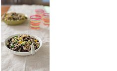 A great salad with toasted barley and black beans but add or substitute in any of your favoirte veggies to make it uniquely yours!