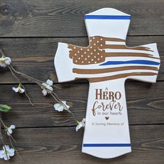 Personalized Memorial Gifts, Personalized Wedding, Police Officer, Police Chief, Firefighter Cross, Game Of Thrones Movie, Police Memorial, Little Girl Pictures, Funeral Gifts
