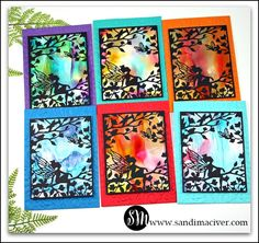 Hero Arts Fairy Window Cards and a NEW Video - Sandi MacIver - Papercraft Artist Make A Boat, Window Cards, Hero Arts, Ink Painting, Embossing Folder, Tim Holtz, Cardmaking, Make It Simple, Card Stock