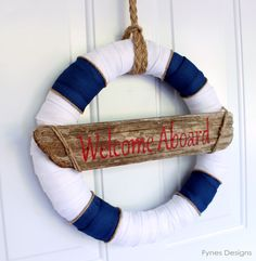 Nautical Decor Wreath... Inspired by Lunenburg Nova Scotia - FYNES DESIGNS