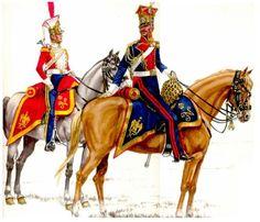 Trębacz i szef szwadronu  3 Litewskiego Pułku Szwoleżerów Lansjerów Gwardii Cesarskiej 1812r.