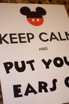 Keep Calm Mickey / Minnie Birthday Sign 8x10 by PoppyEventDesign, $8.00