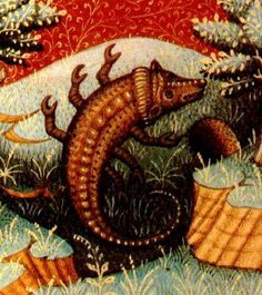 Scorpio (note- long ago, artists attempting to draw some creatures such as scorpions, lions, crabs had never actually seen one, and drew from what was described to them)