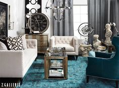 Followers are excitedly repinning this eclectically elegant living room!