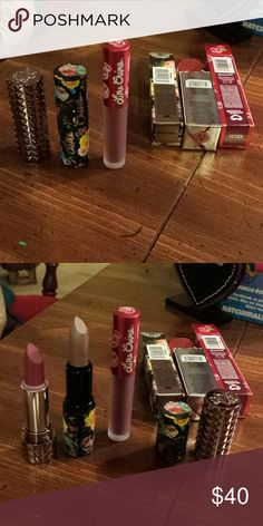 Kate von d and lime crime lipstick lot Lot of three lipsticks kate von d studded lipstick in shade mother, lime crime lipstick in shade roswell, and lime crime velvetines in shade fetishes all are new the last one wash swatched twice on a clean hand lime crime  Makeup Lipstick