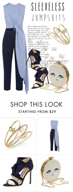"""""""All-in-One: Sleeveless Jumpsuits"""" by andrejae ❤ liked on Polyvore featuring Charter Club, Roksanda, Jimmy Choo and sleevelessjumpsuits"""