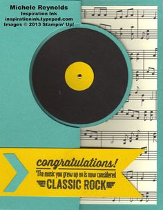 Bombs Away Birthday Classic Record Flip Card
