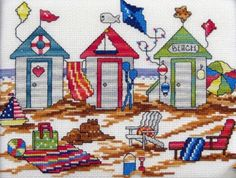 Cabana chart in time for summer stitching!