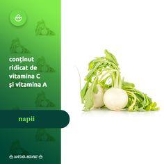 Spre sfârșitul toamnei și pe parcursul iernii, nu mai avem atât de multe #legume proaspete la dispoziție, așa că este bine să ne diversificăm cât mai mult dieta. #Napii sunt legume foarte sănătoase, dar mai puțin folosite în mâncăruri. În salate, pot înlocui cu succes morcovii sau țelina. Sunt bogați în vitamine, în special vitaminele C și A, purifică sângele și au proprietăți diuretice. Natur House, Vitamin C