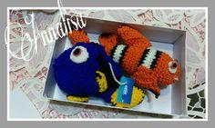 Dory e Nemo amigurumi uncinetto tutorial sul mio canale YouTube
