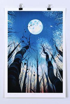 Victo Ngai, BARSK The Elephant's Graveyard, Illustration, Drawing Art Inspo, Kunst Inspo, Inspiration Art, Art And Illustration, Illustrations And Posters, Art Watercolor, Drawn Art, Fantasy Kunst, Moon Art