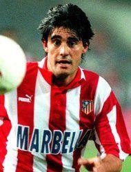 Caminero, centrocampista español, ganador del doblete , Liga 1995-1996