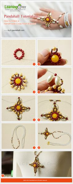 Pandahall Tutorial on How to Make a Handmade Cross Pearl Bracelet