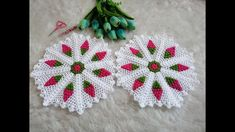 Crochet Stitches, Crochet Patterns, Needlework, Diy And Crafts, Elsa, Squares, Crocheting, Youtube, Crochet Table Runner