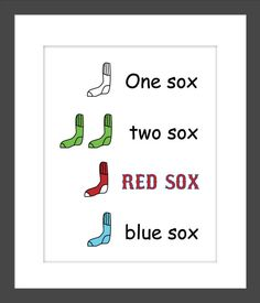 Hey, I found this really awesome Etsy listing at https://www.etsy.com/listing/193852265/dr-suess-one-sox-two-sox-red-sox-blue