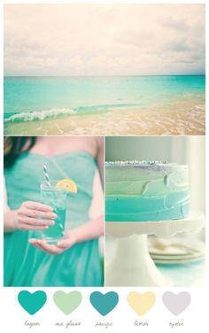 #color #palette #teal by loracia. Color palette for Bridal Shower.