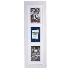 Geneva Collage Frame White 15cm x 55cm 3 Openings